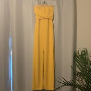 Golden Yellow Strapless Lulu's Gown